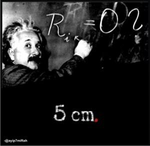 Relativitas, Einstein dan 5 cm